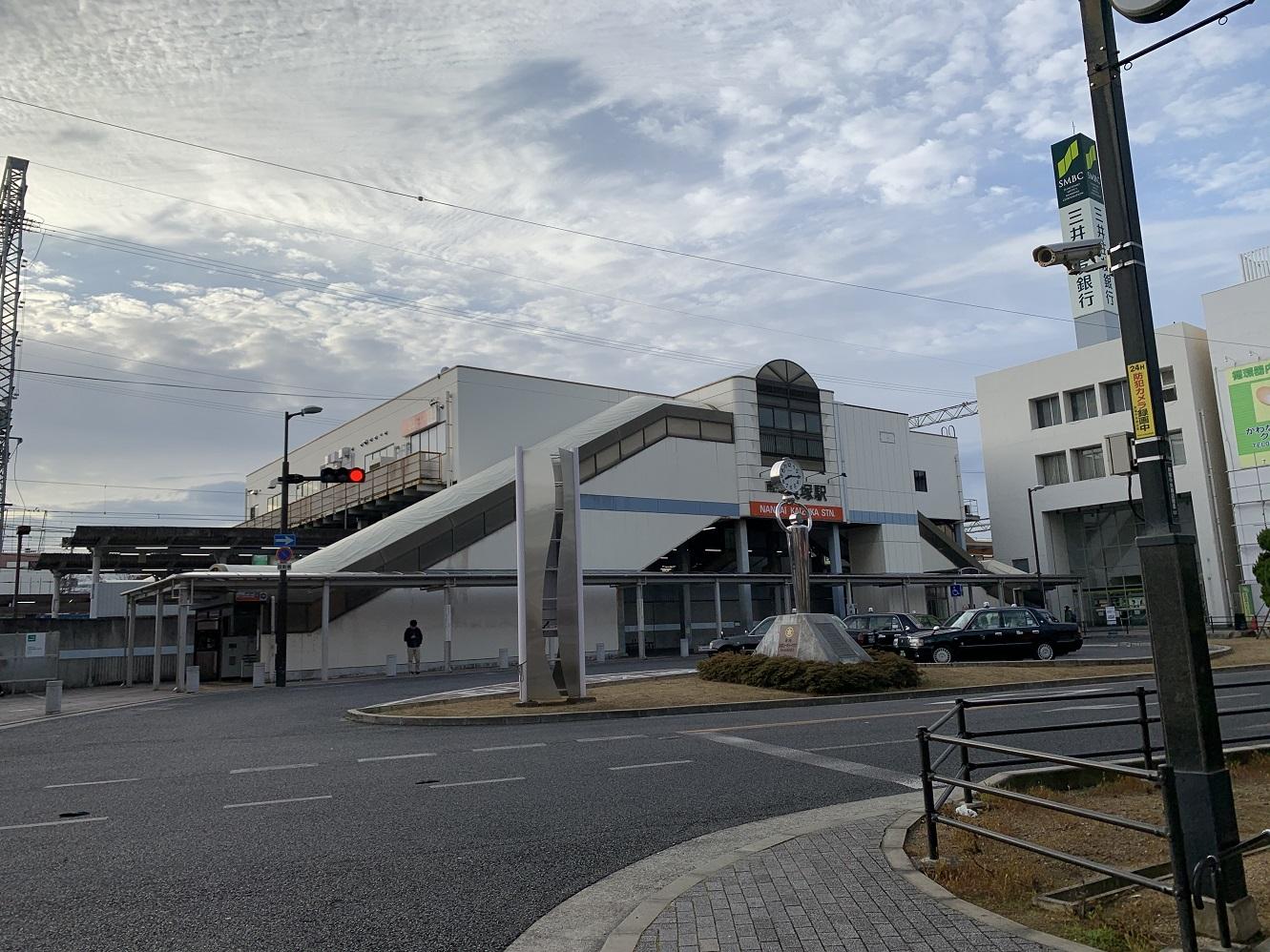 南海貝塚駅前