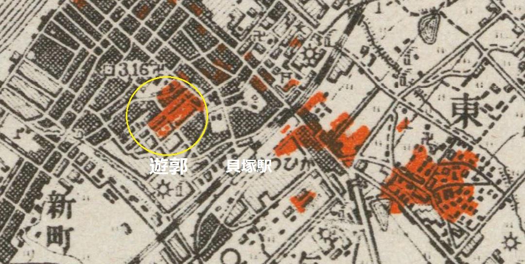 1945貝塚空襲概況貝塚遊郭