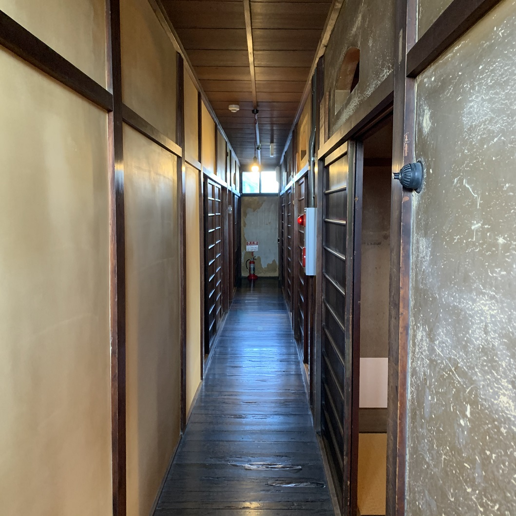 町家物語館旧川本楼二階廊下