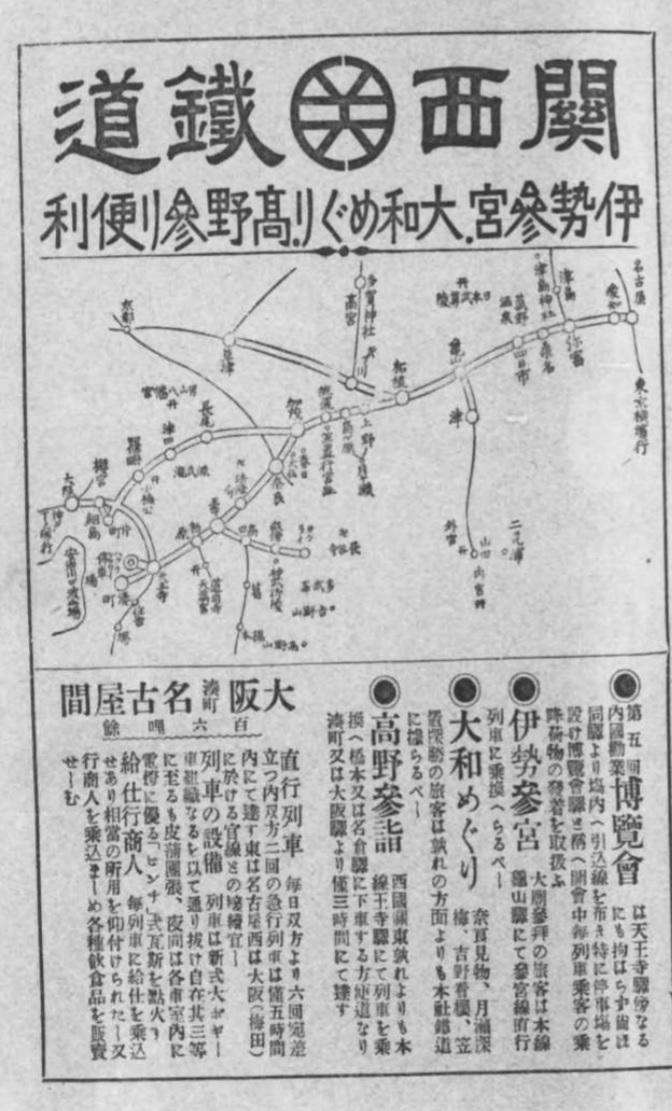 関西鉄道大阪と博覧会