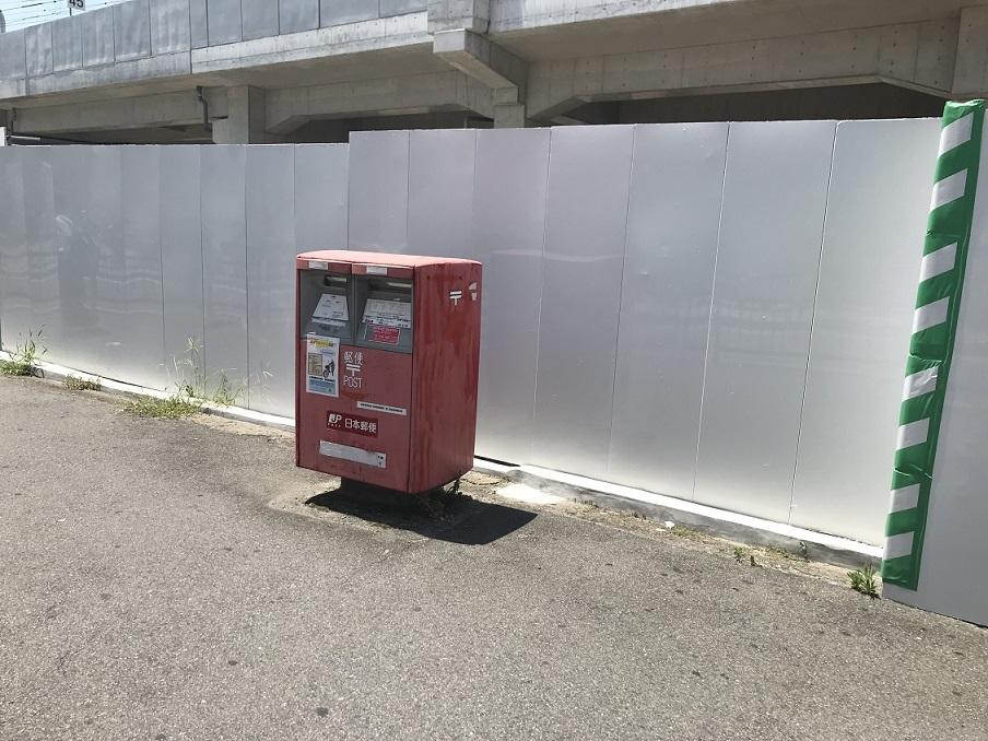 東岸和田旧駅舎横にあったポスト
