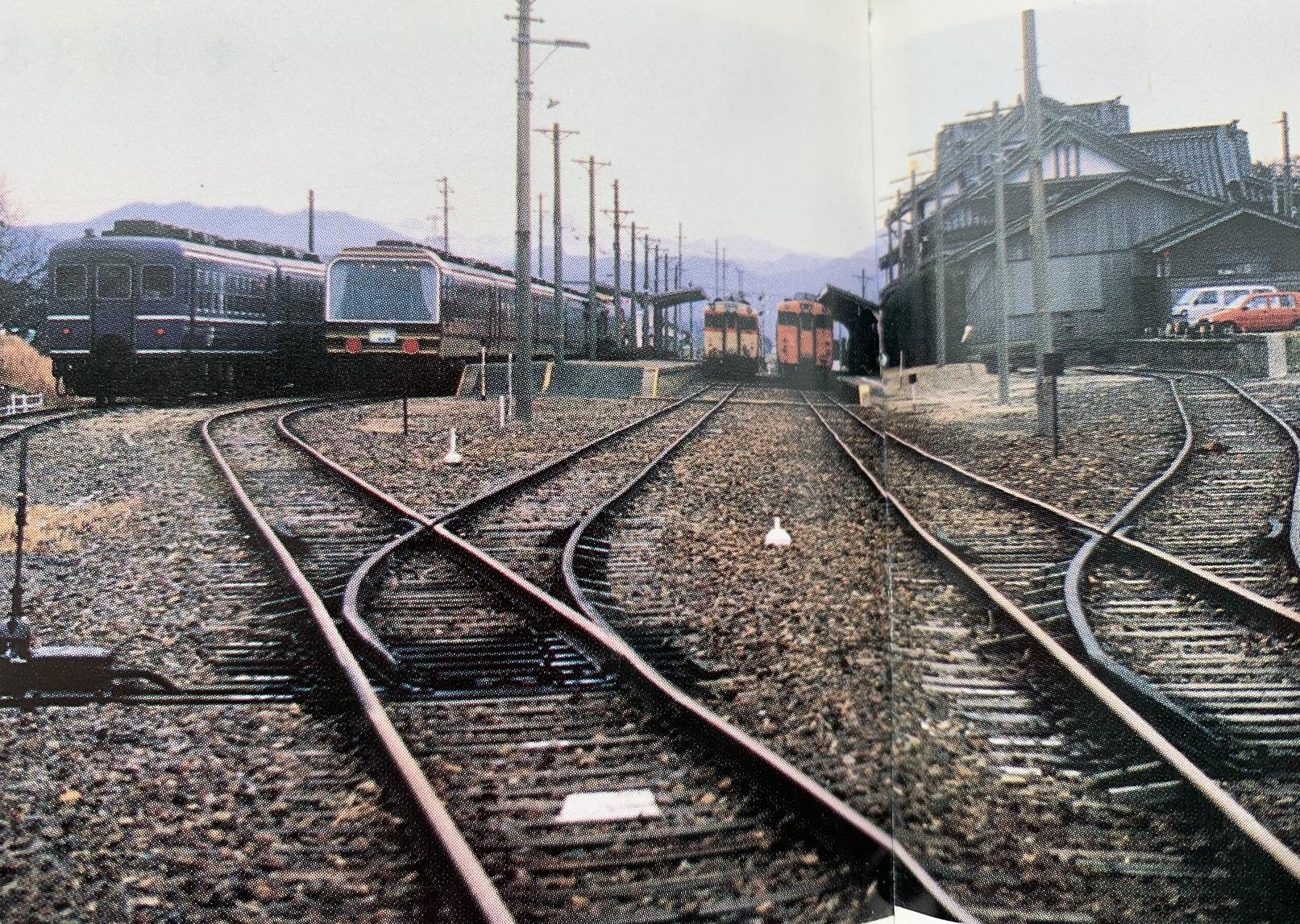 団体列車留置中(大社線80年の軌跡)