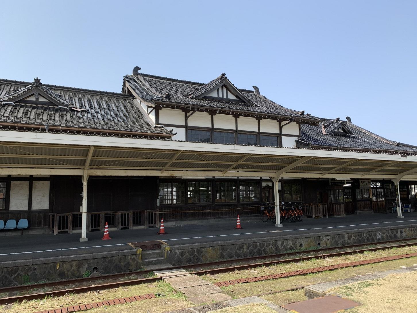 大社駅ホーム