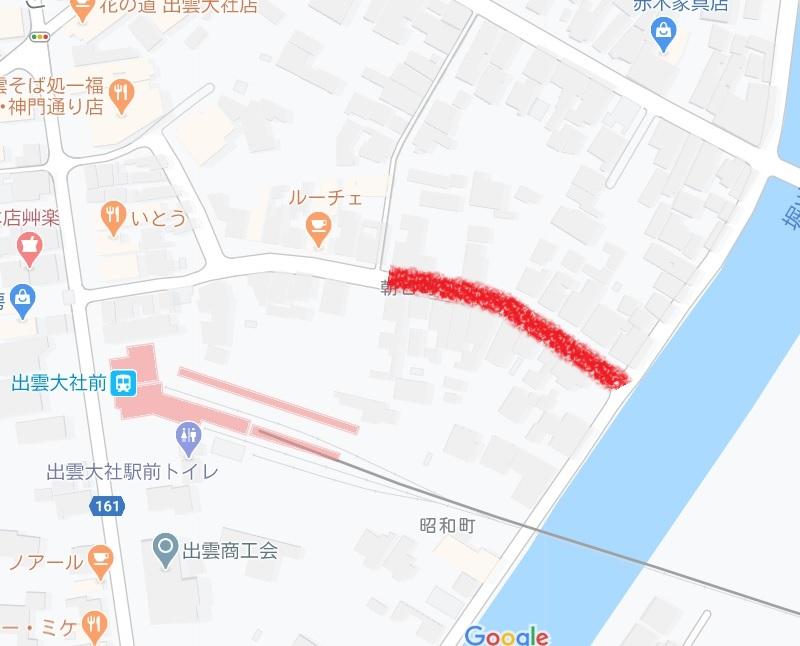 大社柳町遊郭地図