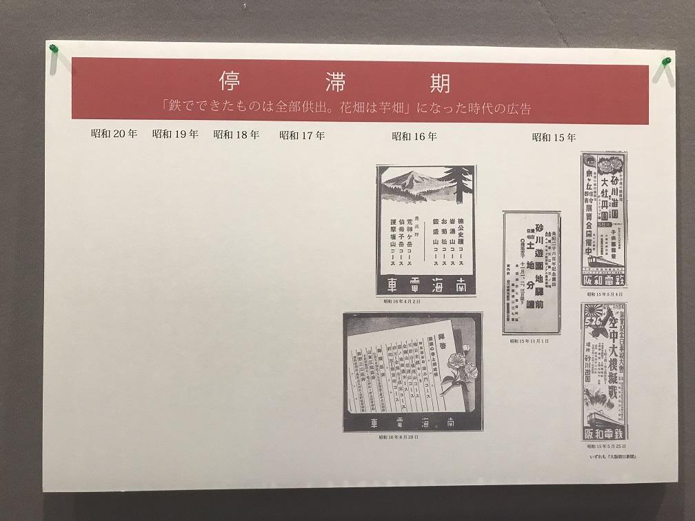 泉南市埋蔵文化財センター展示会『昭和の一大観光地砂川』よりパネル1