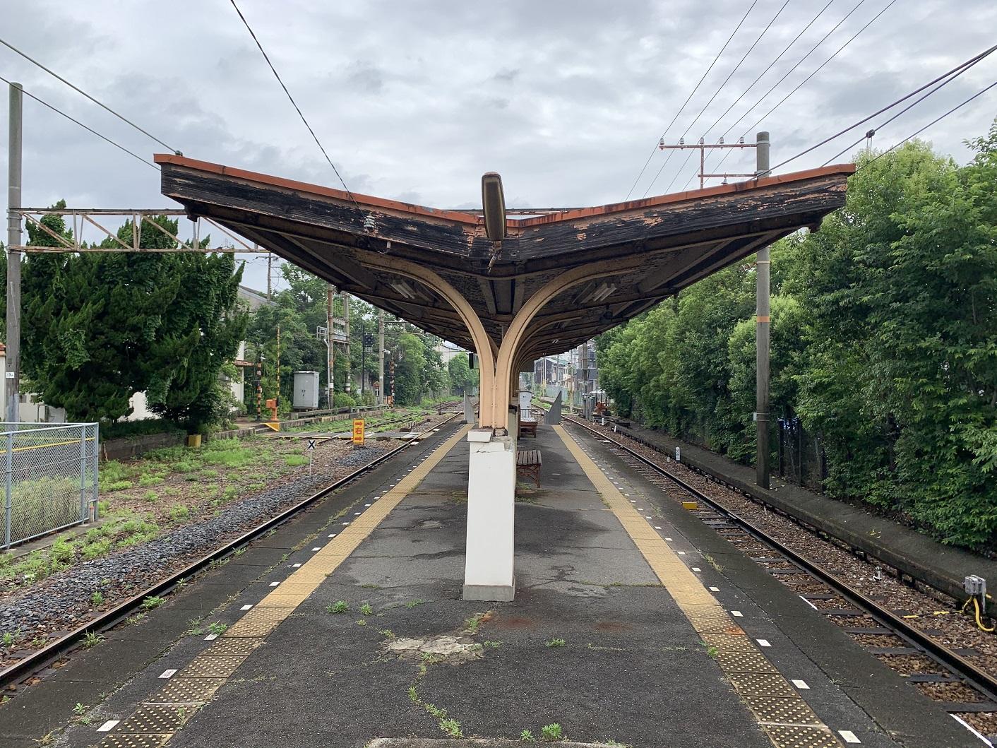 南海汐見橋線木津川駅ホーム