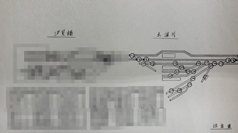 木津川駅線路ポイント