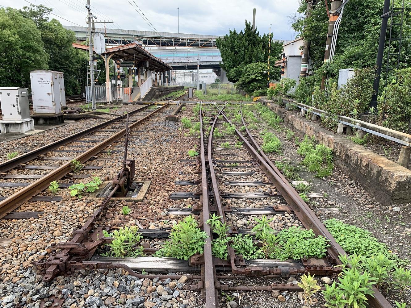 木津川駅構内線路
