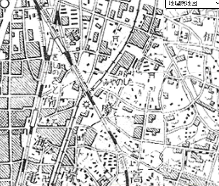 宮ノ下駅昭和30年地図