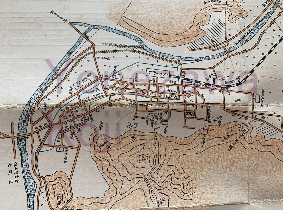 1929倉吉町地図新地遊郭