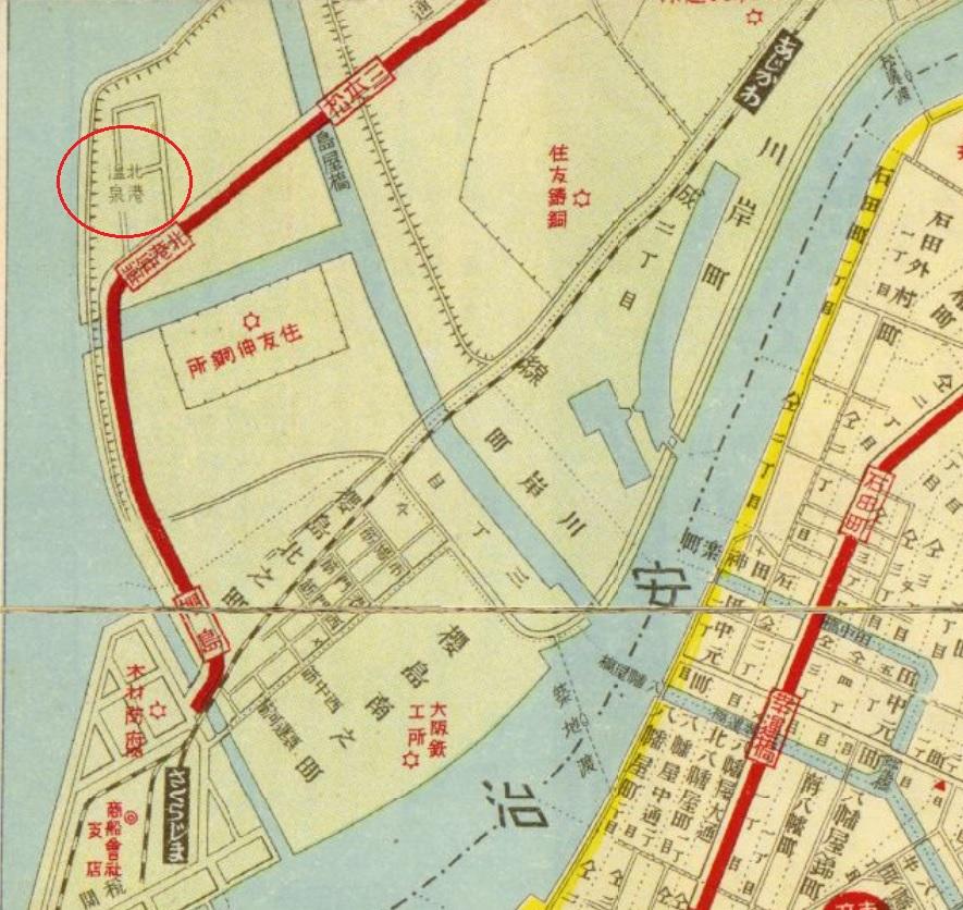 北港温泉地図昭和3