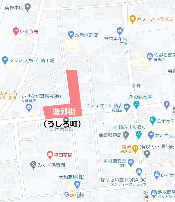 仙崎遊郭マップ