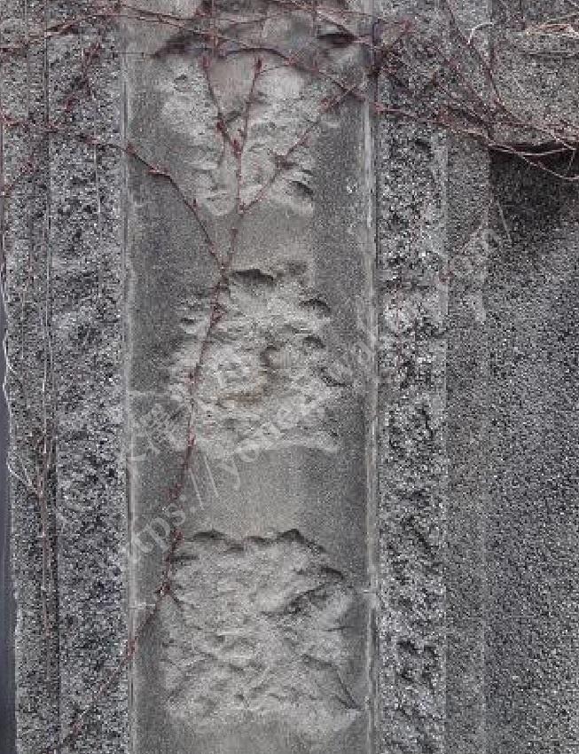 萩遊郭跡貸座敷の門柱2