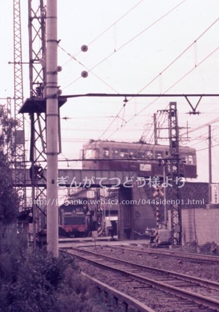 大阪市電三宝線と鶴見橋跨線橋