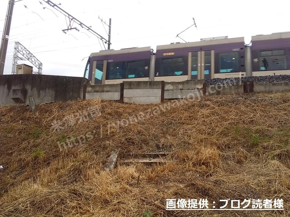 海道畑駅の階段