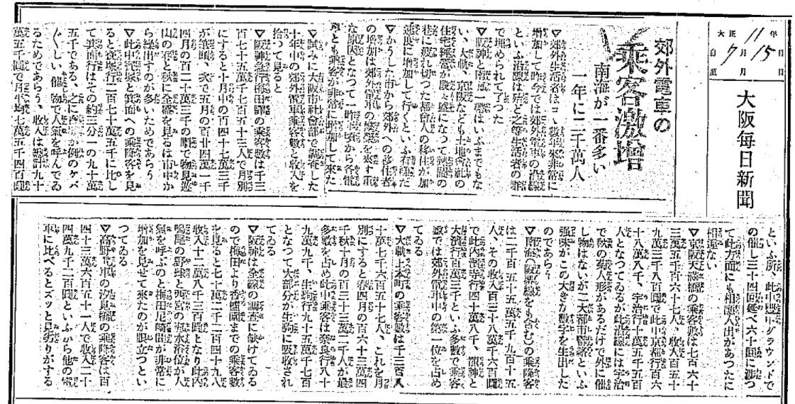 大阪毎日新聞記事