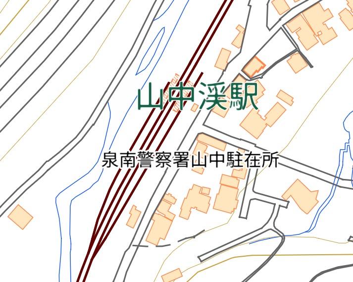 山中渓駅地図
