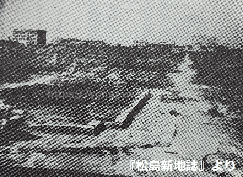 戦災後の松島遊郭桜筋