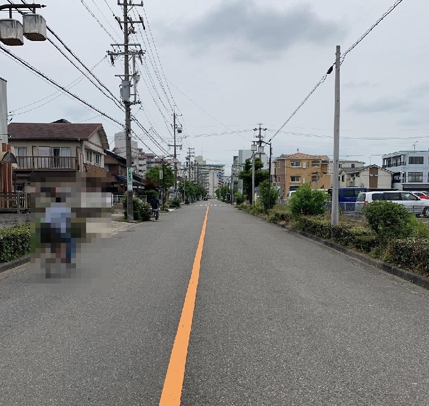 旧稲永遊郭の大通り