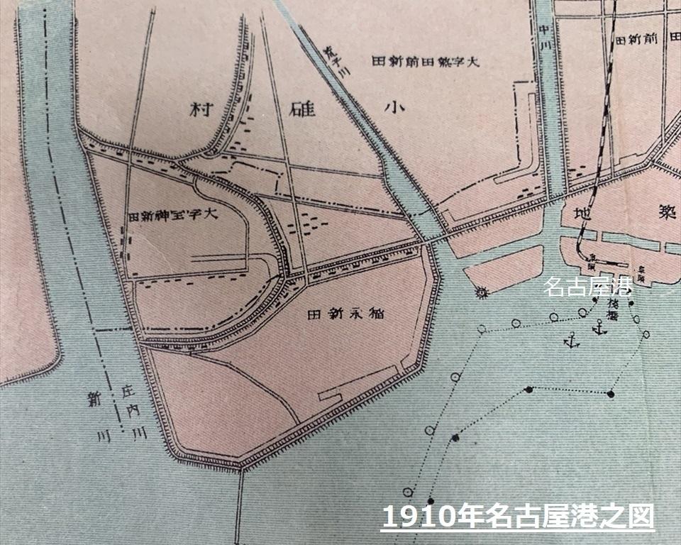 明治後期の名古屋港の地図