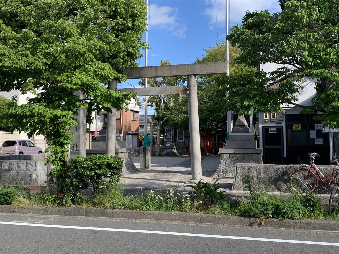 稲永遊郭跡にある錦神社