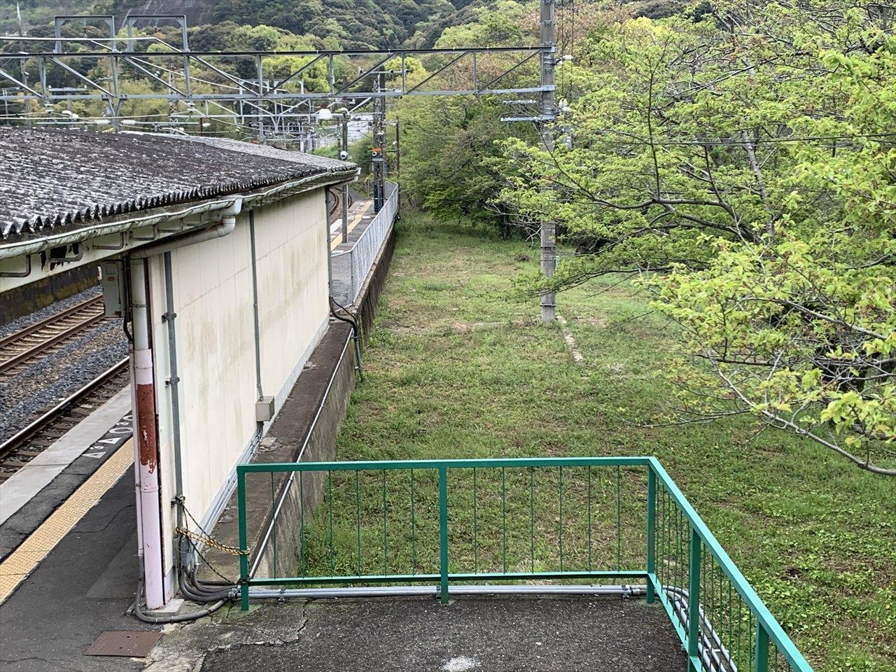 山中渓駅のホーム