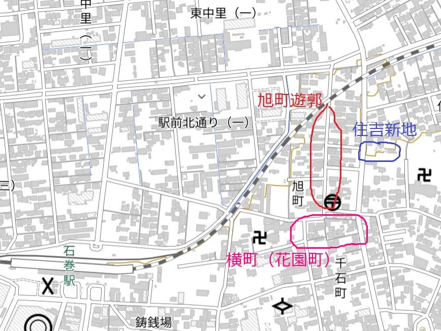 石巻遊郭地図