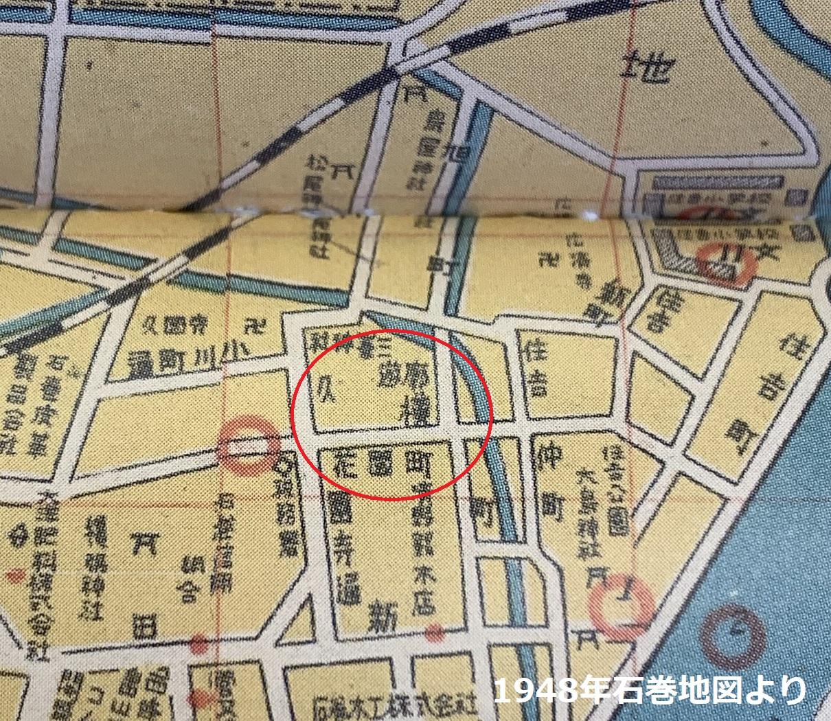 石巻遊郭赤線地図