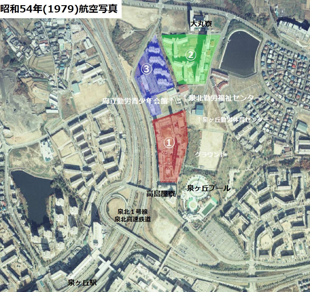 泉北ニュータウンのヤングタウン配置図