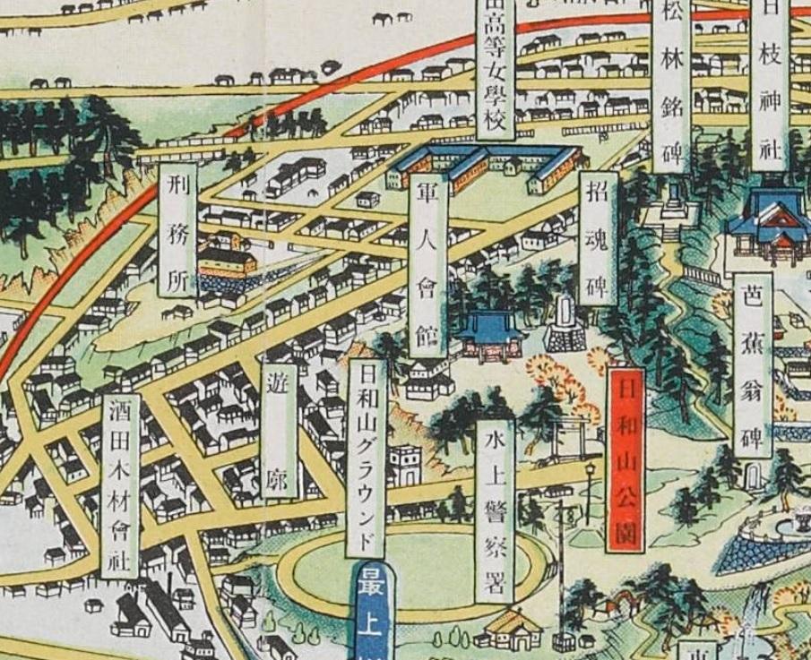 酒田の古い地図